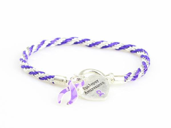Epilepsy Heart Charm Bracelet EHCB1 Awareness-alert