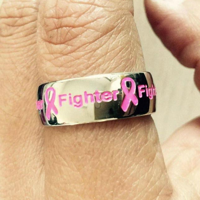 Pink Fighter Ring F1 Awareness-alert