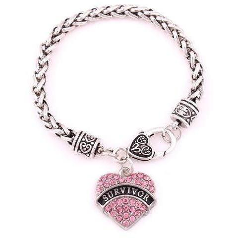 Survivor Awareness Alert Bracelet SurvivorB Awareness-alert pink