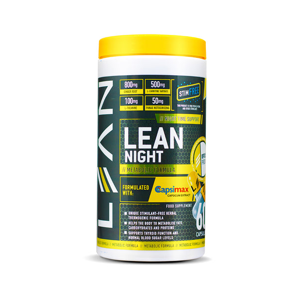 LEAN Active Lean Night Stim Free Fat Burner - 60 Capsules