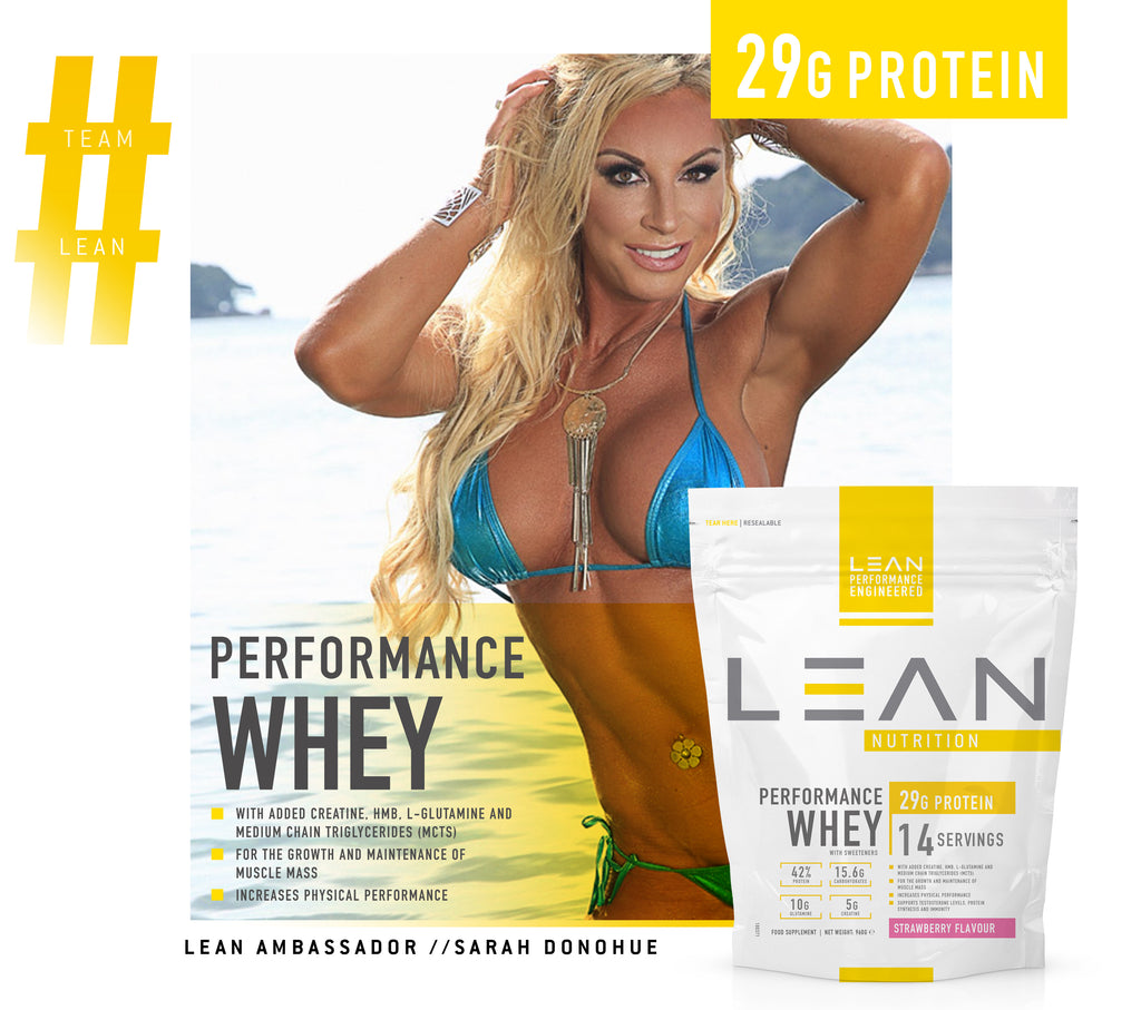 LEAN Nutrition Whey Protein Powder - Protein Shakes For Optimum Nutrition