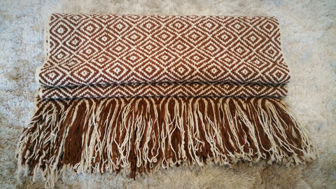 Diamond Wrap Runner in Brown