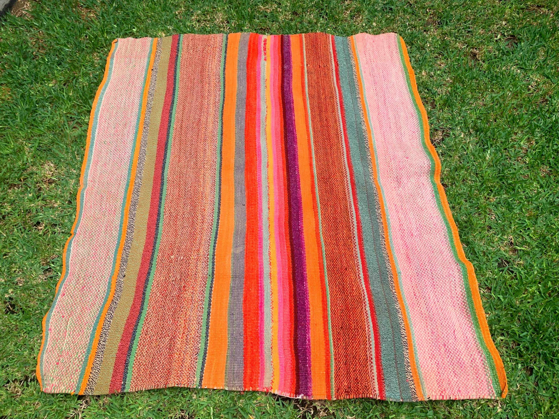 Peruvian Frazada in Sunshine & Rainbows