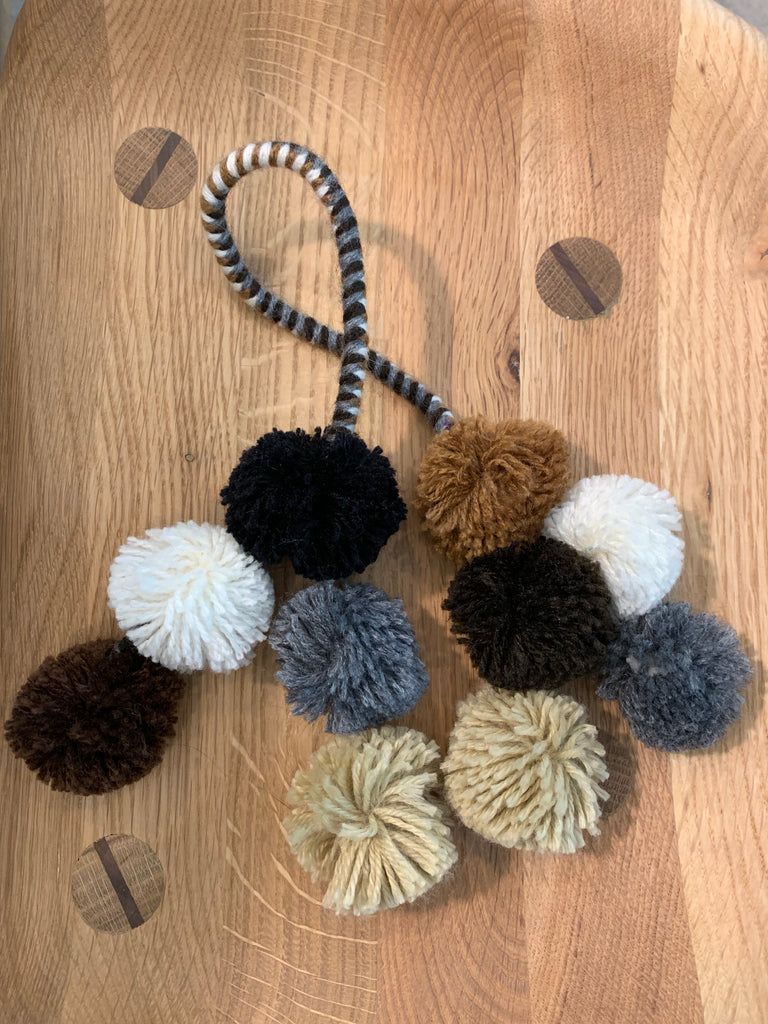 Neutral PomPom Tassels
