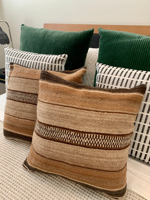 Frazada Pillow Covers in Alpaca Stripes