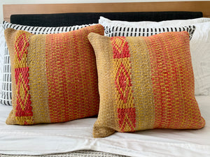 Frazada Pillow Covers in Citrus