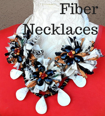 Fiber Statement Necklaces
