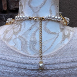 Bridal Vintage Pearl Multi-Strand Statement Necklace, Unique Gift for Her