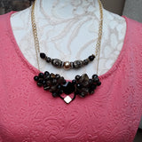 Cluster Art Deco Layered Multiple Necklace Set - Couture Gift for Her