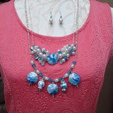Maximalism Cluster Pearl Layered Necklace Set - Couture Gift for Her
