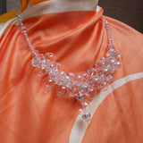 Bridal Hand Blown Glass Statement Necklace, Handmade Necklace - Chanel in Bubbles!