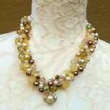 Vintage Pearl Pendant Bridal Statement Necklace - Unique Wedding Jewelry - Amazing Gift