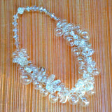 Bridal Hand Blown Glass and Crystal Statement Necklace - Chanel in Bubbles!