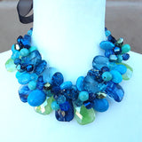 Colorful Chunky Twisted Wire Statement Necklace, Mother of the Bride Bib, Gift for Her