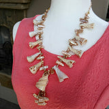 Shell Beach Statement Necklace, Chunky Resort Necklace, Mother of Pearl Statement Necklace