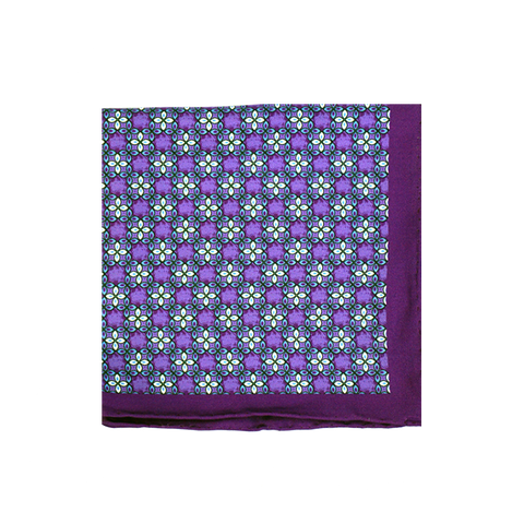 Florets Purple Pocket Square