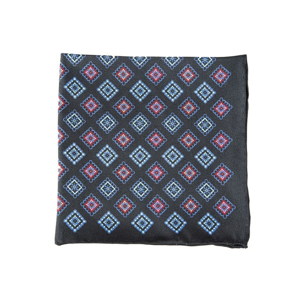 Aztec Black Pocket Square + SquareGuard