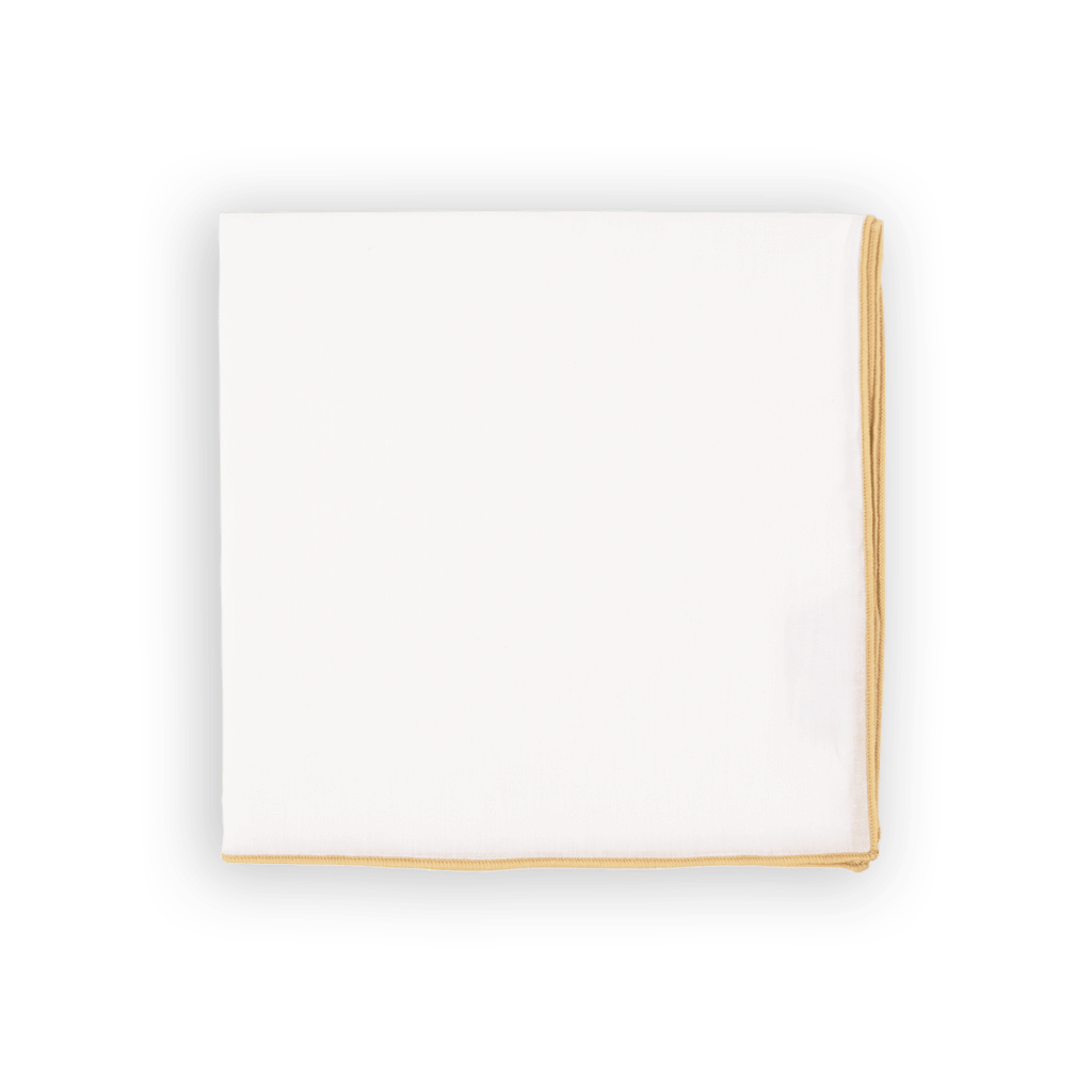 Beige Trim Pocket Square