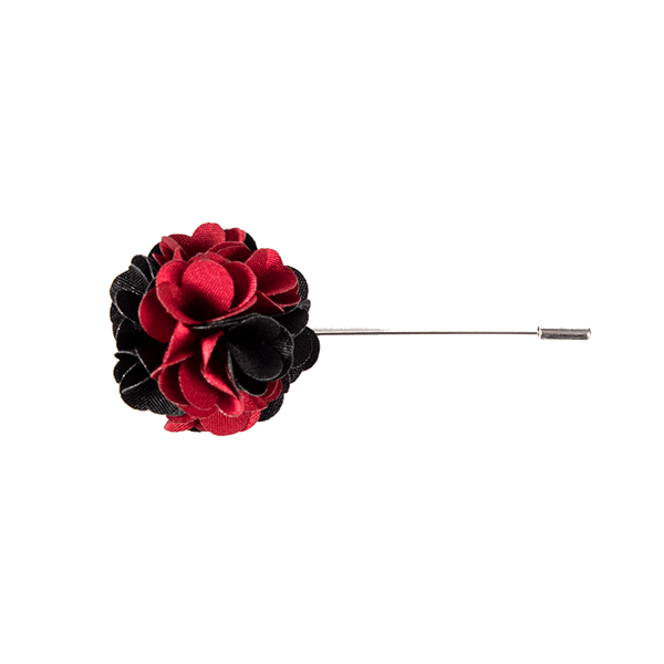 Black and Red Lapel Pin