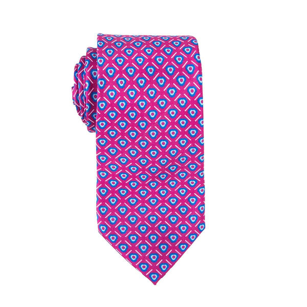 Bubble Gum Geometric Tie