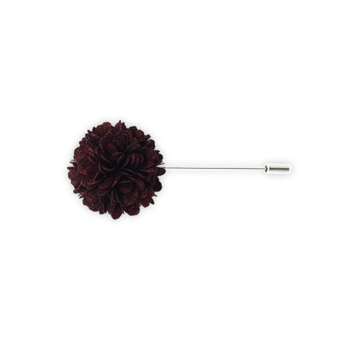 Lapel Pin (Deep Burgundy Textured)