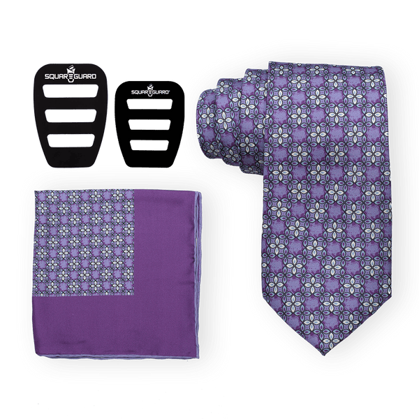 Florets Purple Tie Set