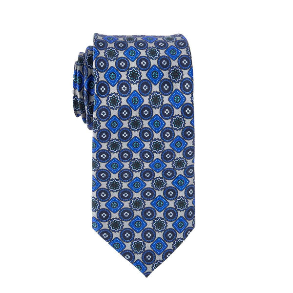 Grey Wildflower Tie