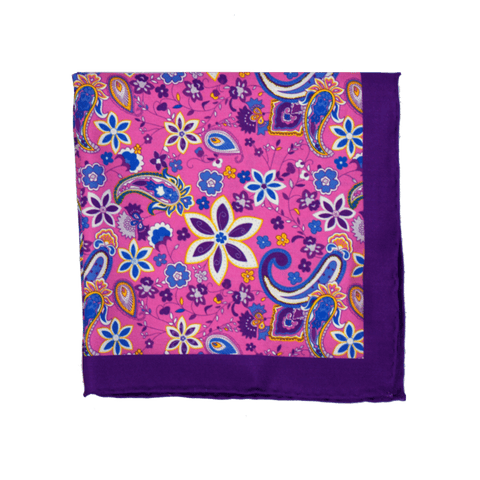 Groovy flowers Pocket Square + SquareGuard