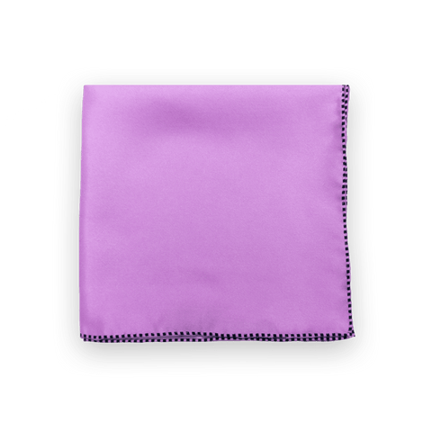 Lilac Dotted Trim Pocket Square