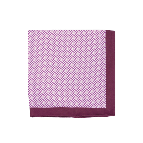 Lilac Mini Diamonds Pocket Square + SquareGuard