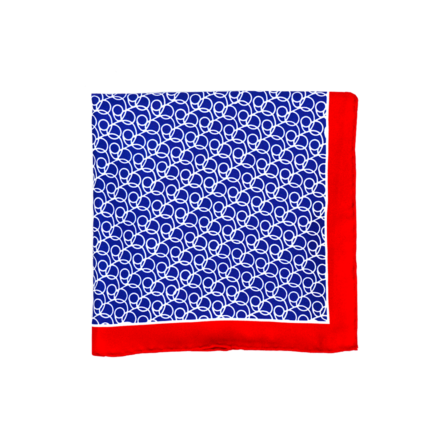 Looped Blue Pocket Square