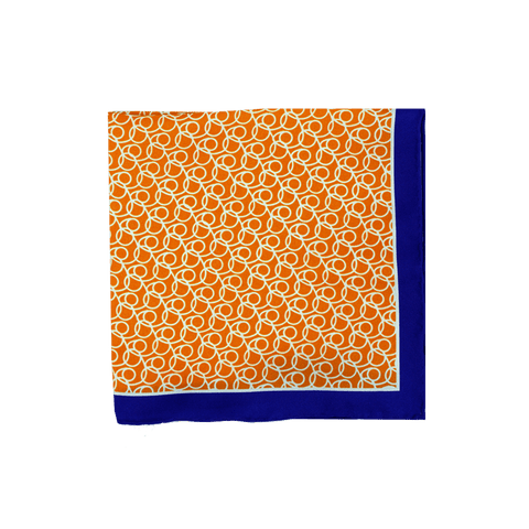 Looped Gold Pocket Square