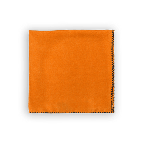Orange Dotted Trim Pocket Square