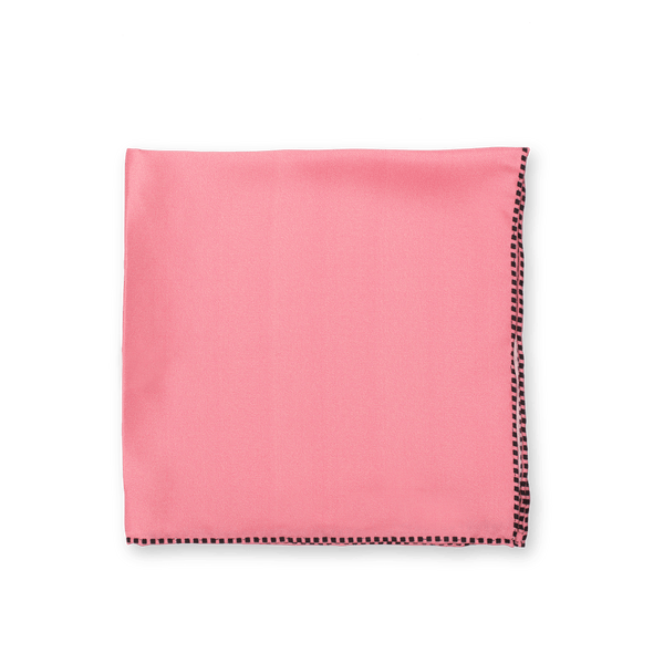 Pink Dotted Trim Pocket Square + SquareGuard