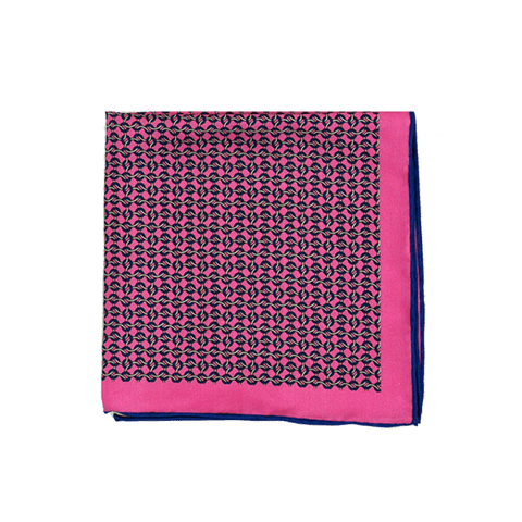 Pink Link Pocket Square