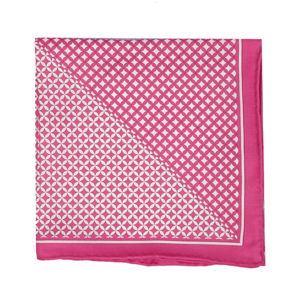 Pink Diamonds Pocket Square + SquareGuard