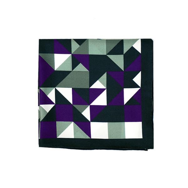 Purple Geometric Pocket Square + SquareGuard