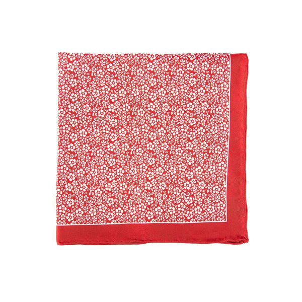 Red Daisy Pocket Square + SquareGuard