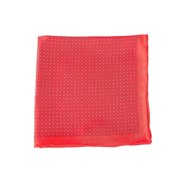 Red Dotted Spin Pocket Square + SquareGuard