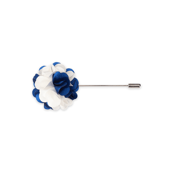 Lapel Pin (White & Blue 2 Tone)