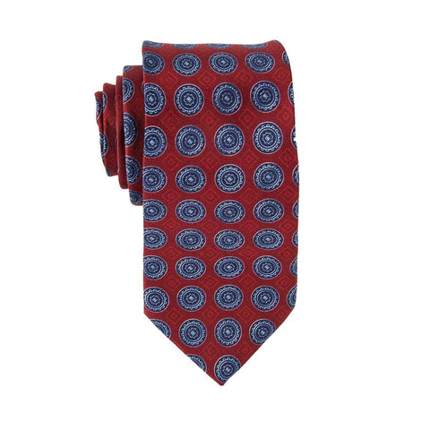 Vintage Red Medallion Tie