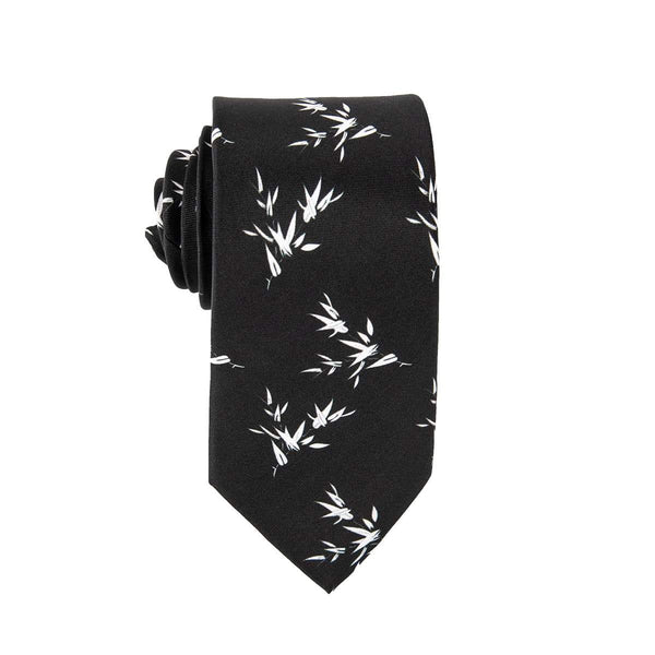 White Rustic Floral Tie