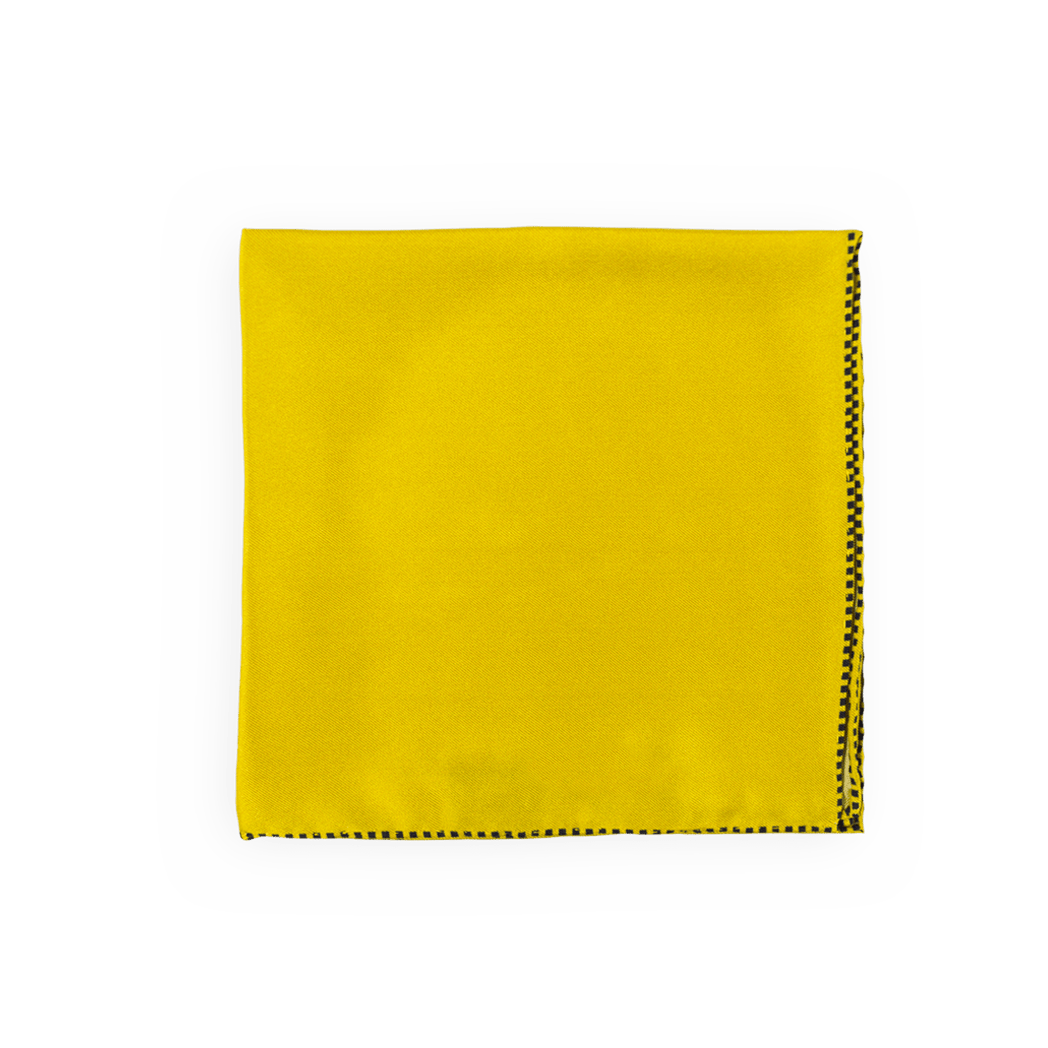 Yellow Dotted Trim Pocket Square