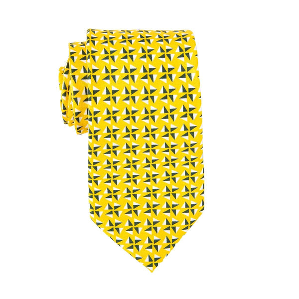 Yellow Fans Tie