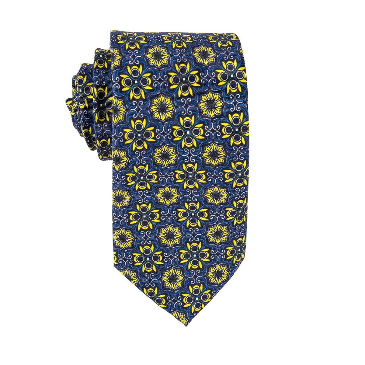 Yellow Hibiscus Floral Tie