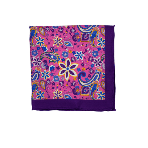 Groovy Flowers Pocket Square
