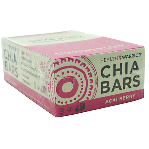 Health Warrior Chia Bar - Acai Berry - 15 ea - 852684003040