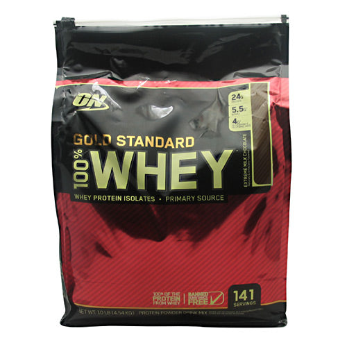 Optimum Nutrition Gold Standard 100% Whey - Extreme Milk Chocolate - 10 lb - 748927053159
