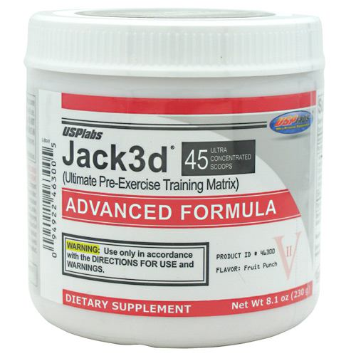 USP Labs Jack3d Advanced - Fruit Punch - 45 Servings - 094922463005
