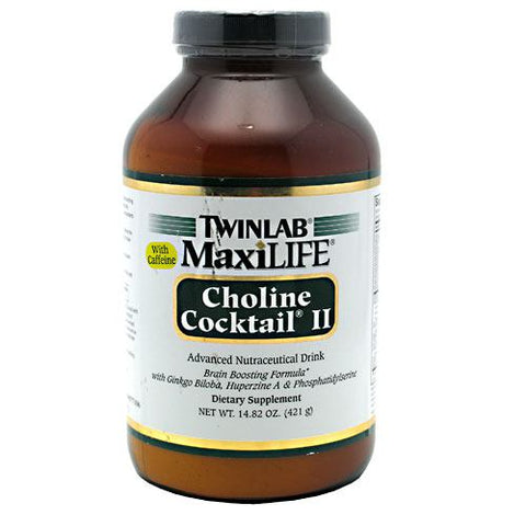 TwinLab MaxiLife Choline Cocktail II with Caffeine - 14.82 oz - 027434011754